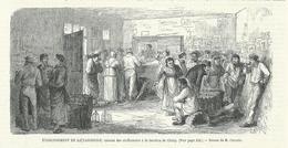 GRAVURE De 1868...Etablissement De La Casserole, Cabaret Des Chiffonniers à La Barrière De CLICHY... Dessin De Claverie - Prints & Engravings