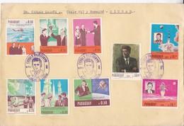 FDC . SERIE ESTAMPAS KENNEDY  Y ESPACIO. AÑO 1967. CIRCULEE GRAND FORMAT. PARAGUAY- BLEUP - FDC & Conmemorativos