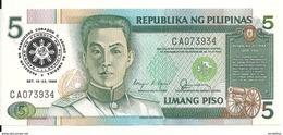 PHILIPPINES 5 PISO 1991 UNC P 179 - Filippijnen