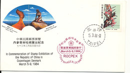 China Cover With Special Postmark And Cachet China Stamp Exhibition In Denmark 5-9/3-1984 - 1949 - ... République Populaire