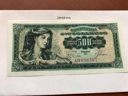 Yugoslavia 500 Dinara Uncirculated Banknote 1963 - Yugoslavia