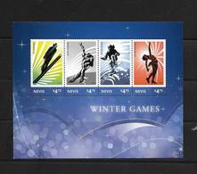 O) 2014 NEVIS, SPORTS -WINTER GAMES - SKI JUMP-SPEED SKATING-ALPINE SKING-FIGURE SKATING-MNH - Stamps