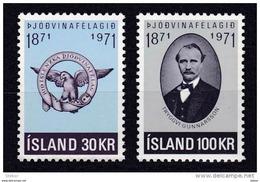 Ijsland 1971 Nr 408/09 ** Zeer Mooi Lot Krt 3035 - Collezioni (senza Album)