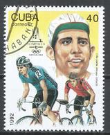 Cuba 1992. Scott #3439 (U) Summer Olympics, Barcelona, Sergio Martinez, Cycling * - Cuba