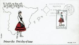 Spanien Espana Spain 1971 - Trachten: Vizcaya - MiNr 1911 FDC - Kostüme