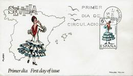 Spanien Espana Spain 1970 - Trachten: Sevilla - MiNr 1878 FDC - Kostüme
