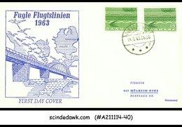 DENMARK - 1963 DANISH STATE RAILWAY / TRAIN - FDC - FDC