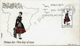 Spanien Espana Spain 1970 - Trachten: Palencia - MiNr 1844 FDC - Kostüme