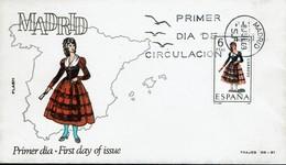Spanien Espana Spain 1969 - Trachten: Madrid - MiNr 1821 FDC - Kostüme