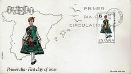 Spanien Espana Spain 1969 - Trachten: Oviedo - MiNr 1843 FDC - Kostüme