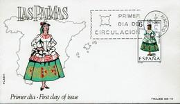 Spanien Espana Spain 1968 - Trachten: Las Palmas (Kanarische Inseln) - MiNr 1764 FDC - Kostüme