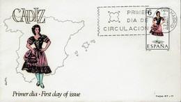 Spanien Espana Spain 1967 - Trachten: Cádiz - MiNr 1723 FDC - Kostüme
