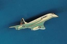 1 PIN'S  //    ** LE CONCORDE /  AIR FRANCE / AVION DE LIGNE SUPERSONIQUE ** . (J. Y. Ségalen Collection)) - Airplanes