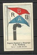 Flag ,die Uber Meere MEMEL Und DANZIG Massary Zigaretten Fabrik Berlin Cigarette , Hamburg - Cigarette Cards