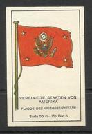 Flag ,die Uber Meere MEMEL Und DANZIG Massary Zigarettenfabrik Berlin Cigarette , Vereingte Staaten Von Amerika - Cigarette Cards