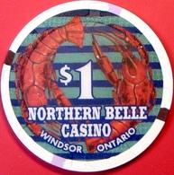 $1 Casino Chip. Northern Belle, Ontario, Canada. M84. - Casino