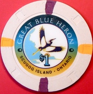 $1 Casino Chip. Great Blue Heron, Ontario, CAN. M84. - Casino