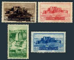 Syria 374-377,hinged.Michel 621-624. Crusaders' Fort,Tel-Chehab Waterfall,1953. - Architektur