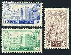 Syria 420,C249-C250,lightly Hinged.Mi 767-769. Telecommunications,1958. - Telecom