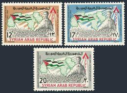 Syria 467-469,MNH.Michel 894-896. Mart 8 Revolution,2nd Ann.1965.Map,flag. - Syria
