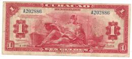 Curacao, 1 Dollar 1942. VF. P-35a. - Netherlands Antilles (...-1986)