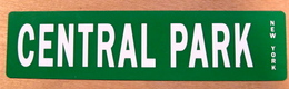 TOLE PLAQUE CENTRAL PARK NEW YORK - Advertising (Porcelain) Signs