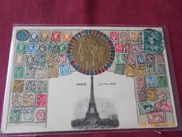 Carte Postale Gaufree Sur Le Theme De La Philatelie 1909 - France