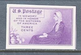 U.S.  754   *  MOTHERS OF AMERICA   SPECIAL  PRINTING   Issued No Gum. - Etats-Unis