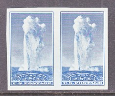 U.S.  760   *  YELLOWSTONE    SPECIAL  PRINTING   Issued No Gum. - United States