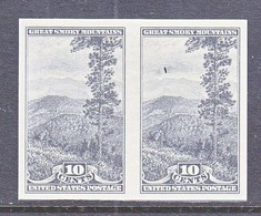 U.S.  765   *  SMOKY  MOUNTAINS  W/ Inking Flaw    SPECIAL  PRINTING   Issued No Gum. - United States