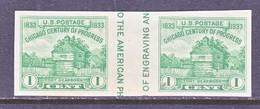 U.S.  766 A   *  VERT.  GUTTER    SPECIAL  PRINTING   Issued No Gum. - United States