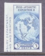 U.S.  768   *  BYRD's POLAR    SPECIAL  PRINTING   Issued No Gum. - United States