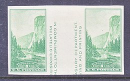 U.S.  769 A   *  VERT.  GUTTER  NATL.  PARKS    SPECIAL  PRINTING   Issued No Gum. - United States