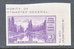 U.S.  770 A   *  MT.  RAINER  NATL.  PARK    SPECIAL  PRINTING   Issued No Gum. - United States