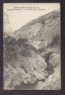 CPA 34 - SAINT-JEAN-DE-FOS - Gorges De L'Hérault - Le Gouffre Noir à Clamouse - TB PLAN  ROCHER Maison Bord Cours D'eau - France