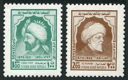Syria 682-683,MNH.Michel 1268-1269. Abulfeda,Al-Farabi,1974. - Writers