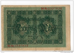 ALLEMAGNE . 50 MARK TYPE 1914 - Réf. N°10773 - - 50 Mark