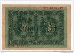ALLEMAGNE . 50 MARK TYPE 1914 - Réf. N°10762 - - [ 2] 1871-1918 : Duitse Rijk