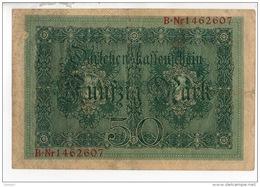 ALLEMAGNE . 50 MARK TYPE 1914 - Réf. N°10759 - - [ 2] 1871-1918 : Duitse Rijk