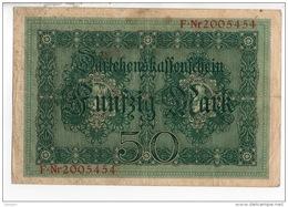 ALLEMAGNE . 50 MARK TYPE 1914 - Réf. N°10763 - - 50 Mark