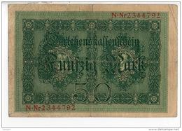 ALLEMAGNE . 50 MARK TYPE 1914 - Réf. N°10766 - - [ 2] 1871-1918 : Duitse Rijk