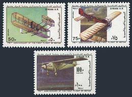 Syria 851-853,MNH.Michel 1437-1439. 1st Powered Flight,75th Ann.1979.Planes. - Airplanes
