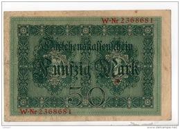 ALLEMAGNE . 50 MARK TYPE 1914 - Réf. N°10768 - - 50 Mark