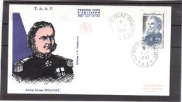 """E23 - PO128 Du 1.1.1987 CROZET Sur FDC Illustrée """" Amiral Ernest MOUCHEZ """" - Terres Australes Et Antarctiques Françaises (TAAF)"""