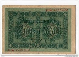 ALLEMAGNE . 50 MARK TYPE 1914 - Réf. N°10764 - - 50 Mark
