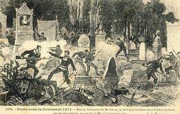 75 - Paris Sous La Commune 1871 - Marins, Infanterie De Marine Et 74e De Ligne Fusillant Dans Le Père Lachaise - Lotti, Serie, Collezioni