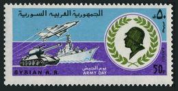 Syria 913,MNH.Michel 1500. Army Day,1981.Tank,ship, Plane. - Militaria