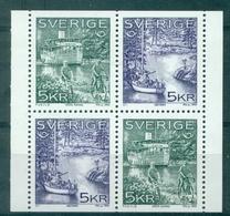 SUEDE 1865 / 66 BLOC De 4 De Carnet (2 Paires) Velo Et Bateaux Tb. - Sweden