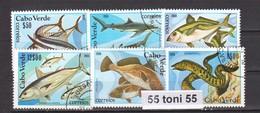 1980 Fauna – POISSONS, FISH , FISCHE 6v.-used/oblitere (O) CABO VERDE - Cap Vert