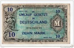 """ALLEMAGNE . 10 MARK """" TYPE OCCUPATION DES ALLIÉS . N° 076289298 - Réf. N°10754 - - [ 5] 1945-1949 : Occupation Des Alliés"""